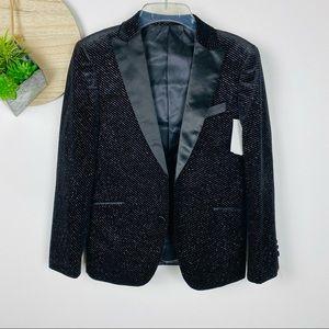 Isaac Mizrahi Black Velour Sparkle Vest *NWT* Size 14